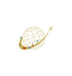 plane travel vacation logo vector image