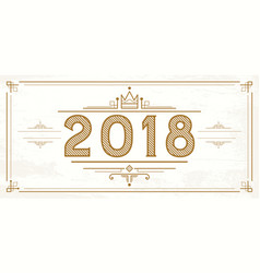 Retro 2018 numbers new year logo vector