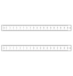 rulers set outline in cm and inches vector image