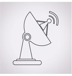 satellite dish icon vector image