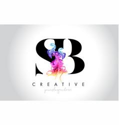 Sb vibrant creative leter logo design vector