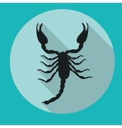 Scorpion silhouette icon vector