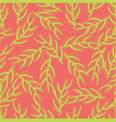 seamless background exotic florals neon colors vector image