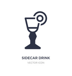 Sidecar drink icon on white background simple vector