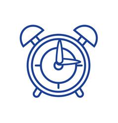 silhouette round clock alarm object design vector image