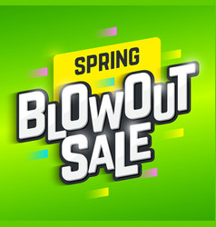 Spring Blowout Sale banner vector
