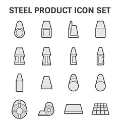 Steel product icon vector image