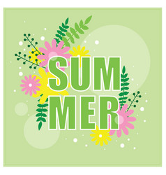 Summer banner with floral decor vector