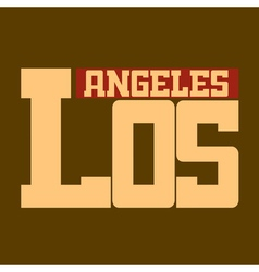 T shirt Los Angeles California beige vector image