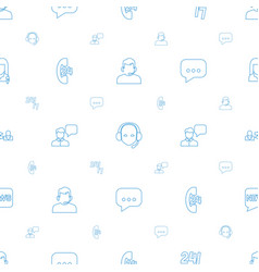 talk icons pattern seamless white background vector image