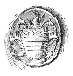 This is washingtons seal from a letter to bouquet vector