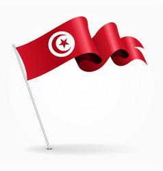 Tunisian pin wavy flag vector