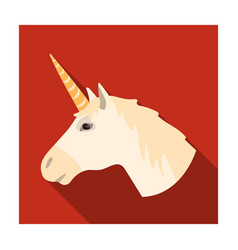 unicorn icon in flat style isolated on white vector image
