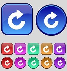 Upgrade arrow icon sign A set of twelve vintage vector