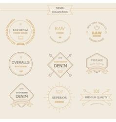 Vintage labels denim typography t-shirt graphics vector image