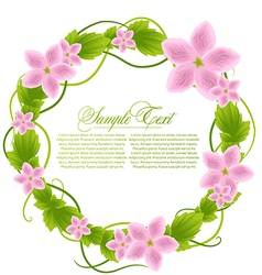 With floral frame vector