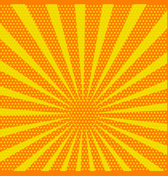 yellow and orange colored back pop art style vector image
