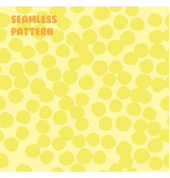Abstract yellow background made of small circles vector