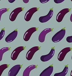 Background of purple eggplant seamless pattern of vector image vector image