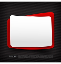 Blank red and white speech bubble layered 002 vector image vector image