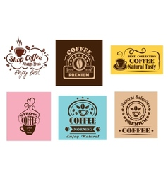Creative coffee label graphic designs vector image vector image