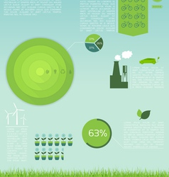Green Eco Infographic vector image