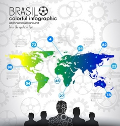 Brasil soccer abstract background for poster vector image