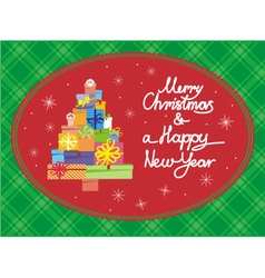 Christmas card horisont vector image vector image