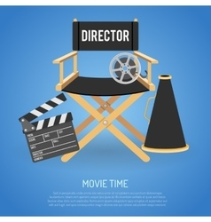 Cinema and Movie time vector image vector image