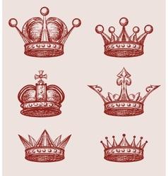 Crown Set vector image vector image