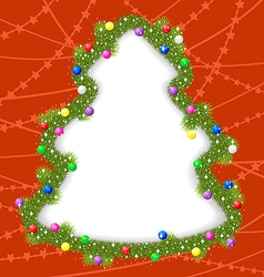 fir frame vector image vector image