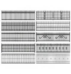 Iron railings vector image