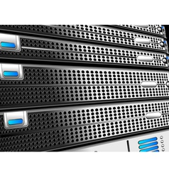 Servers Rack vector image vector image