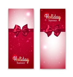 Set of two vertical holiday banners with vector