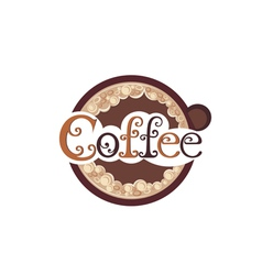 Poster with a coffee cup vector image vector image