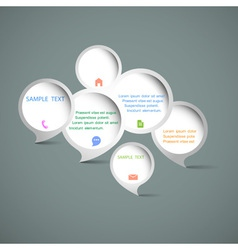 Web design speech bubbles vector image vector image