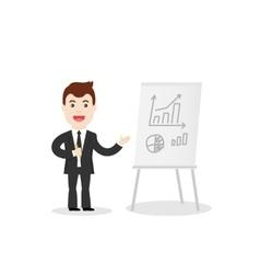 Business Training Speaker in vector image