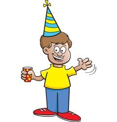 Cartoon Boy Waving vector image vector image