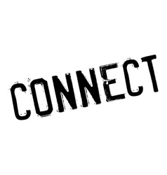 Connect rubber stamp vector