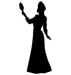 fantasy fabled princess silhouette vector image vector image