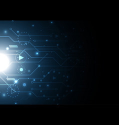 technology future modern circuit vector image
