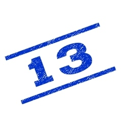 13 Watermark Stamp vector image