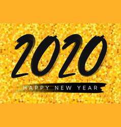 2020 happy new year background merry christmas vector image