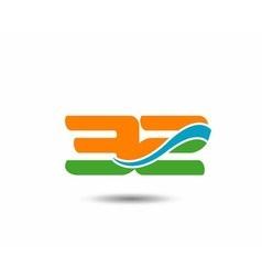 31 anniversary wave logo vector