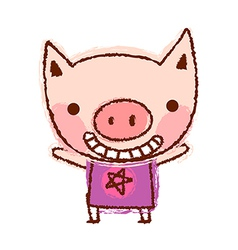 A piggy is standing vector image