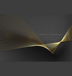 abstract background gold line for design vector image
