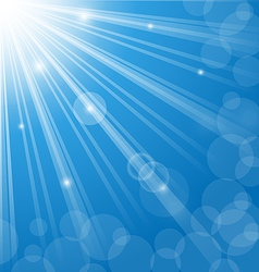 Abstract blue background with lens flare vector image