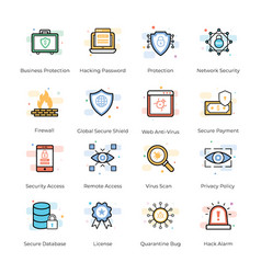 Antivirus and security icons collection vector