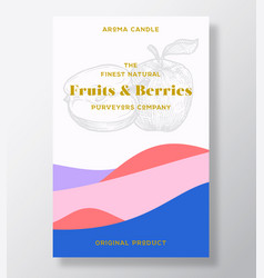 aroma candle label template fruits and vector image