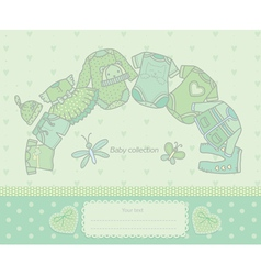 Baby collection green vector